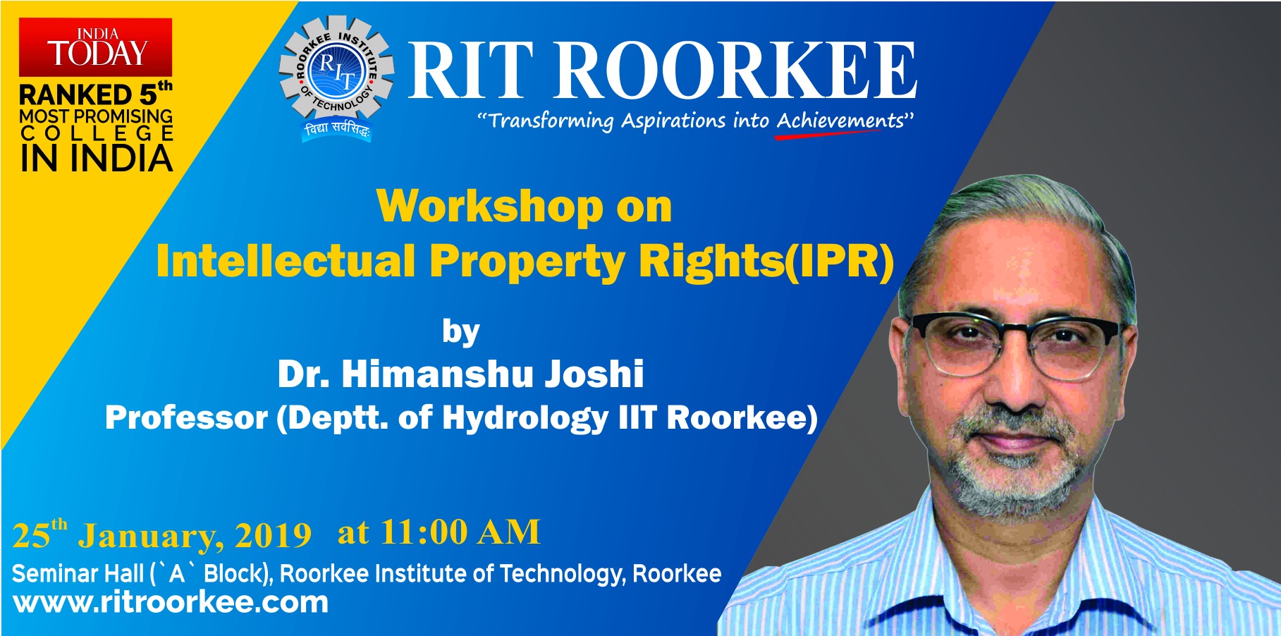 RIT Workshop on Intellectual Property Rights (IPR)