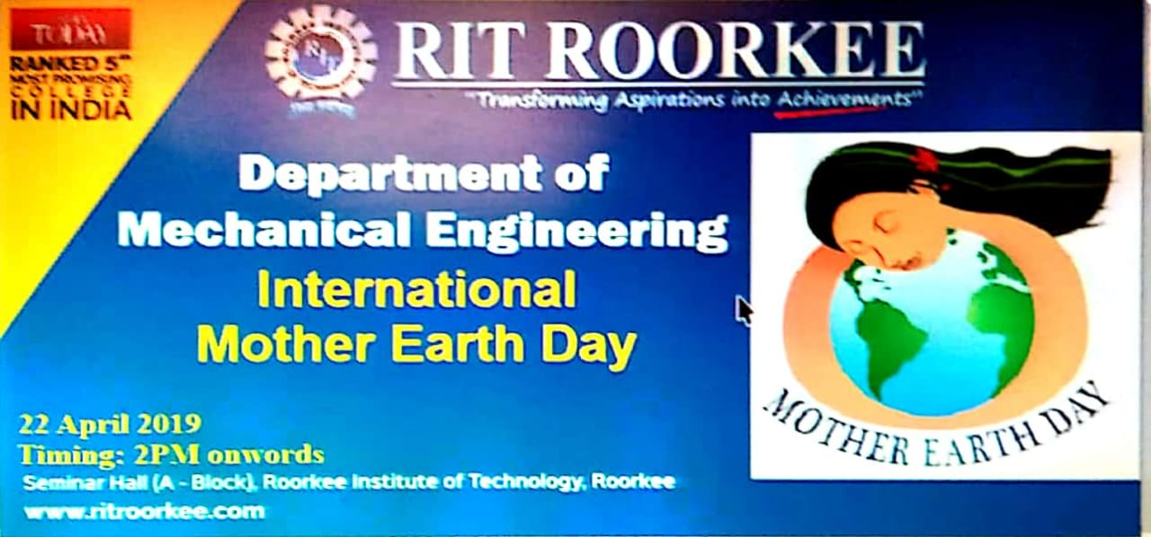 International Mother Earth Day | Roorkee Institute of ...