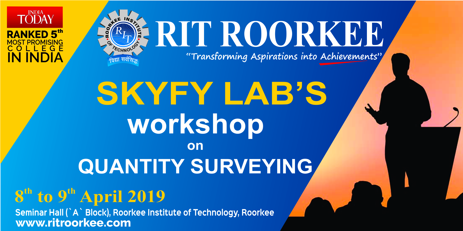 RIT Workshop on Quantity Surveying by SKYFY Labs