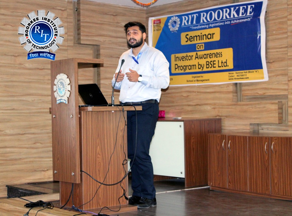 """RIT Seminar on """" Investment Awareness Program"""" by BSE"""