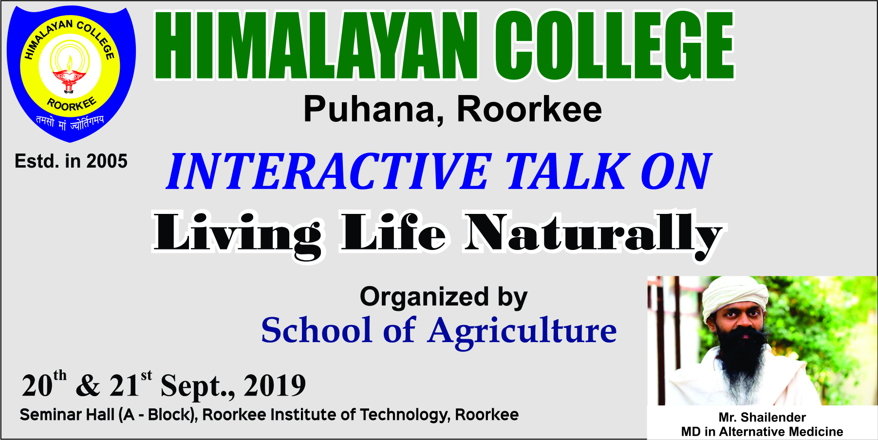 nteractive Talk on Live Life Naturally in RIT