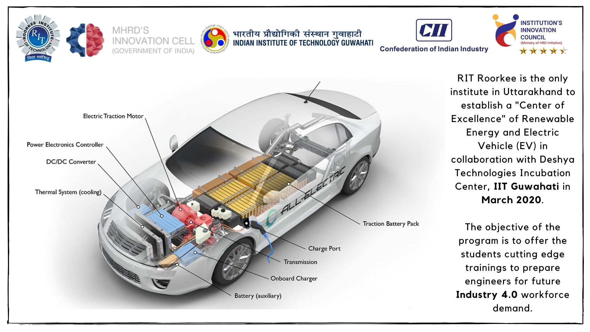 RIT is Centre of Excellence - E-Mobility and Renewable Energy
