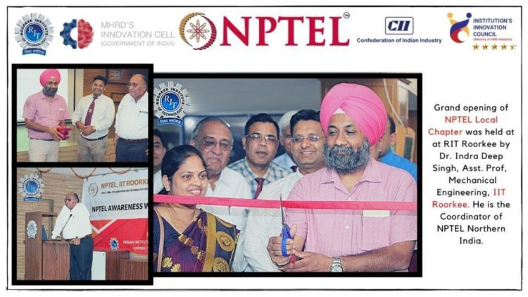 NPTEL chapter opening in RIT