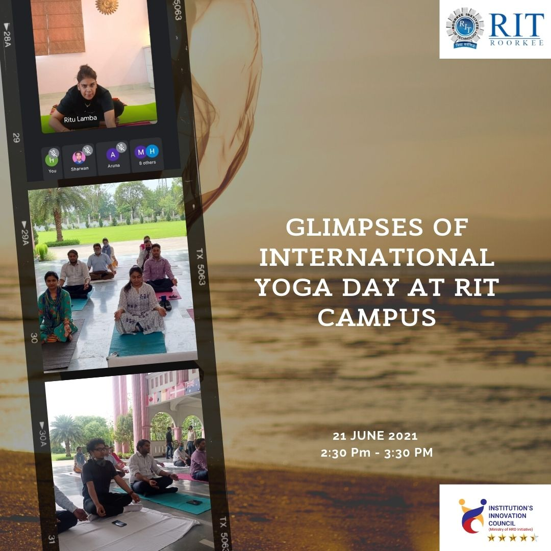 International Yoga Day at RIT Roorkee