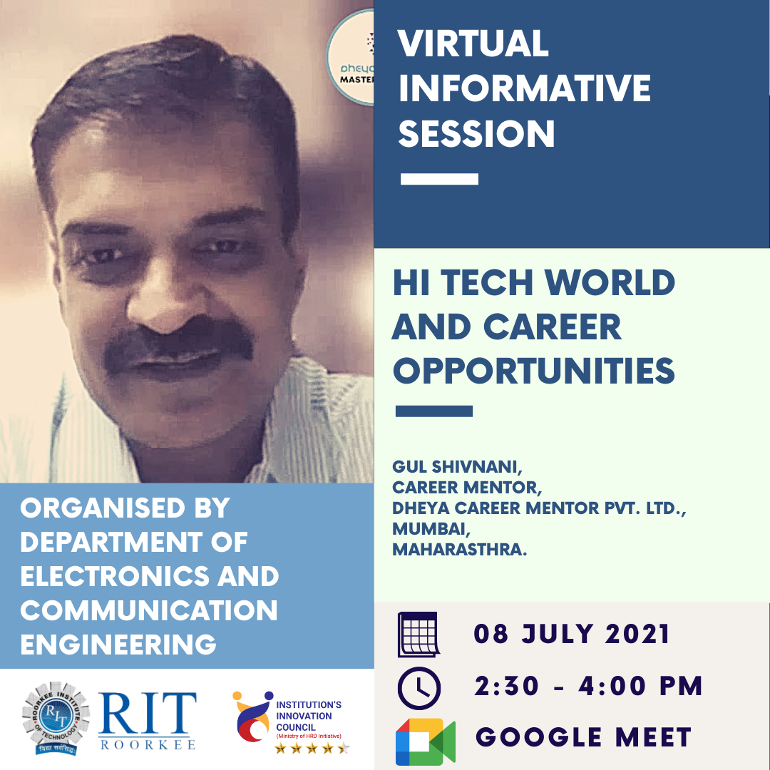 """Online Virtual Informative Session on """"𝐇𝐢-𝐓𝐞𝐜𝐡 𝐖𝐨𝐫𝐥𝐝 𝐚𝐧𝐝 𝐂𝐚𝐫𝐞𝐞𝐫 𝐎𝐩𝐩𝐨𝐫𝐭𝐮𝐧𝐢𝐭𝐢𝐞𝐬"""